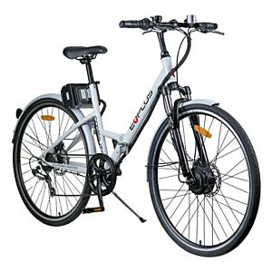 eBike Commute 36v Electric Folding Bike White