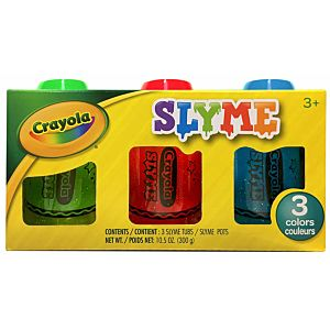 Crayola 3 Pack Sparkle Slyme in packaging