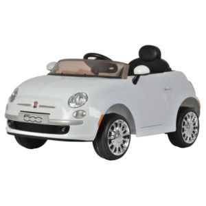 Fiat 500 Electric Ride on Car with Parental Remote Control White
