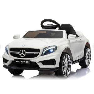Electric Kids Ride On Car MERCEDES BENZ Licensed Car Battery Remote Control White
