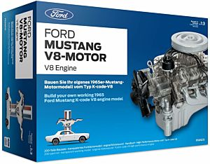 Build your own working 1965 Ford Mustang K-Code V8 engine model Kit