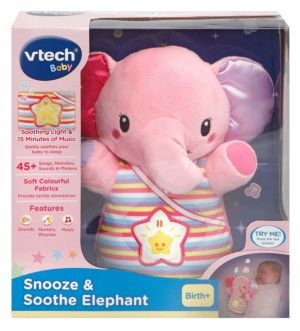 Vtech Snooze & Soothe Elephant Pink in packaging