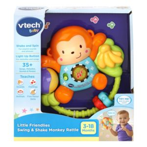 Vtech Little Friendlies Swing & Shake Monkey Rattle in packaging